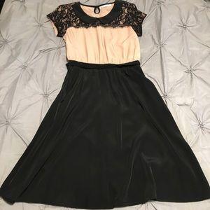 Mikarose pink and black dress